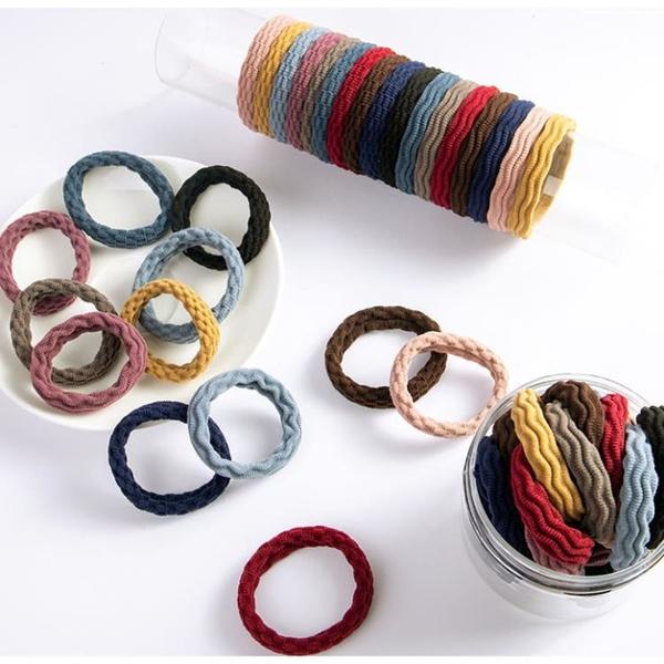 發圈 頭繩女毛巾圈頭繩韓版成人黑色橡皮筋扎頭發簡約發飾 顏色隨機發YL依品國際
