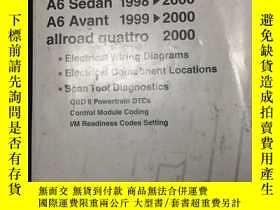 二手書博民逛書店Audi罕見A6 electrical wiring diagr