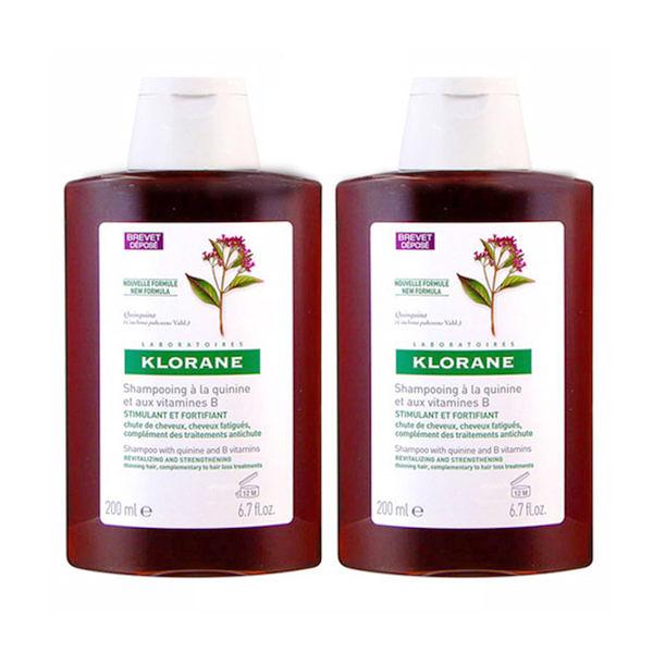 KLORANE 蔻蘿蘭 養髮洗髮精200ml*2 加贈 黑人 專業護齦抗敏感 牙膏 120g