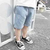 男童牛仔短褲 男童牛仔短褲夏季兒童五分褲薄款外穿男寶中褲寶寶休閒洋氣褲子潮-Ballet朵朵