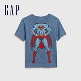 Gap男幼童Gap x DC正義聯盟系列超人舒適短袖T恤577608-灰藍色