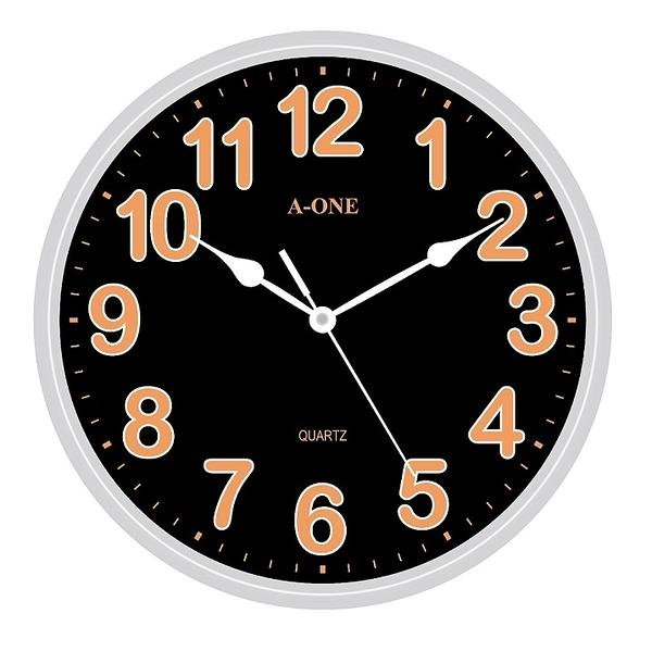【A-ONE】10吋炫亮螢光字靜音時鐘 TG-0315