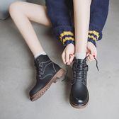 ins馬丁靴女短筒英倫風學生正韓百搭小短靴秋季新品chic平底