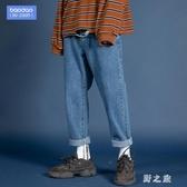 秋季男士加肥加大碼直筒休閒韓版潮流寬鬆長褲工裝牛仔褲胖子褲子 KV3321 【野之旅】