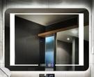智慧浴鏡防鏡無框led浴室鏡衛生間鏡子壁掛帶燈鏡燈一體智慧觸控防鏡衛浴鏡!~`