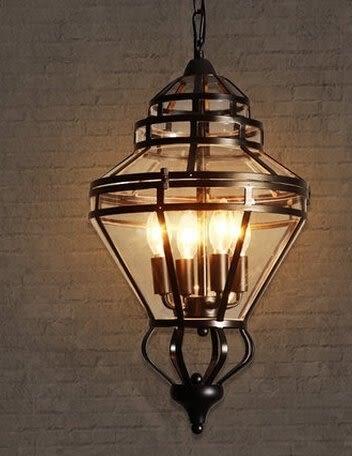 設計師美術精品館美式餐廳吊燈現代創意飯店工程燈設計師的簡歐式複古鐵藝燈
