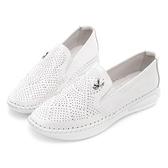 PLAYBOY 浪漫星空 美鑽真皮休閒鞋-白(Y5298白)