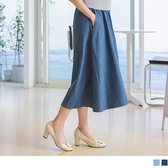 《MA0385-》純棉涼感彈力輕薄牛仔孕婦裙 OB嚴選