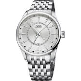 oris豪利時 Artix 指針式月亮週期機械錶-銀/42mm 0176176914051-0782180
