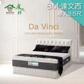客約商品 床大師名床 進口布天然乳膠雙層波浪獨立筒床墊 3.5尺單人 (BM-達文西)