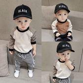 新生兒童衛衣韓版男寶寶長袖T恤圓領衫嬰兒衣服小孩打底衫上衣潮