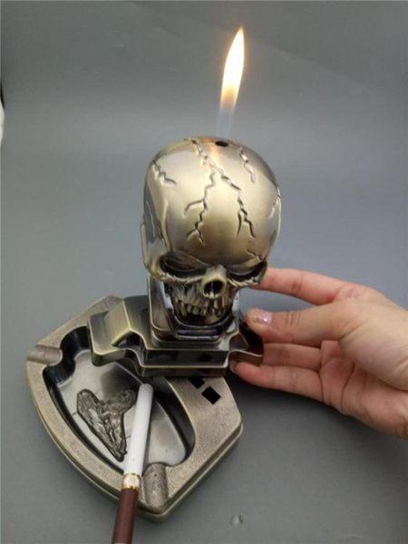 創意金屬明火打火機船舵金屬臺式家居辦公煙灰缸菸灰缸PLL4001【男人與流行】