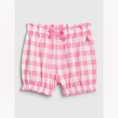 Gap女嬰棉質印花鬆緊腰休閒短褲543704-螢光粉