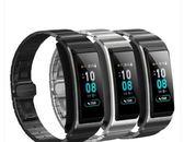 華為B5手環錶帶 鋼製鈦金灰版替換腕帶時尚通用智慧  電購3C