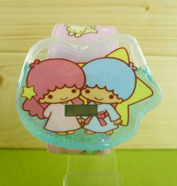 【震撼精品百貨】Little Twin Stars KiKi&LaLa 雙子星小天使~電子錶~粉藍【共1款】