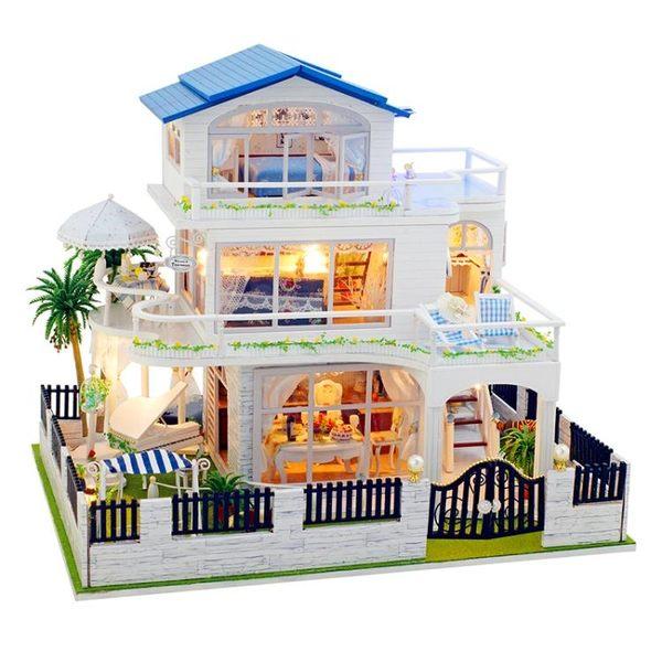 diy小屋溫哥華手工制作房子模型別墅拼裝玩具創意新年生日禮物女YYP   蜜拉貝爾