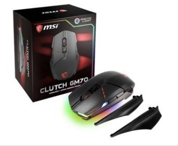 【超人百貨X】MSI Clutch GM70 GAMING Mouse 有線/無線雙模設計 電競滑鼠 雙模式使用