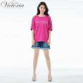 Victoria 中高腰吸濕排汗牛仔短褲-女V55201