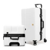 OUMOS 法國 旅行箱/行李箱 29吋白色(滾輪升級加大)