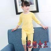 女童睡衣 夏季家居服套裝小孩女寶中大童夏天薄款短袖棉質 BT5326【花貓女王】