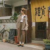 Queen Shop【01024327】磨毛復古格紋寬版襯衫 兩色售*現+預*