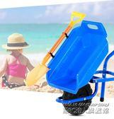 扮家家玩具兒童沙灘小推車單輪1/3/6歲大號寶寶玩具工程車推土車  IGO