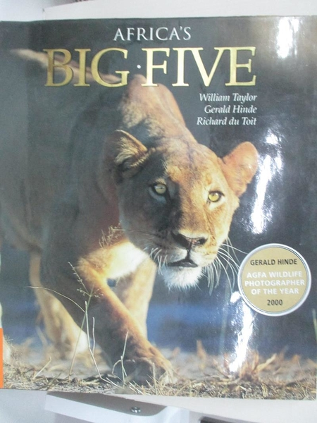 【書寶二手書T1/動植物_KNM】Africa's Big Five_Taylor, William