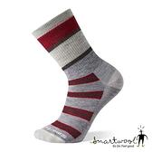 Smartwool 中性 中級減震型徒步條紋中長襪『塵灰』SW001021 美國製|保暖襪|登山襪|運動襪