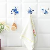 ✭慢思行✭【N027】印花強力免釘掛勾 無痕 承重 吸盤 黏膠 無痕黏勾 辦公室 浴室