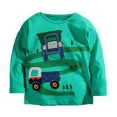 男Baby男童長袖T恤可愛砂石車純棉上衣 出口歐美品質現貨