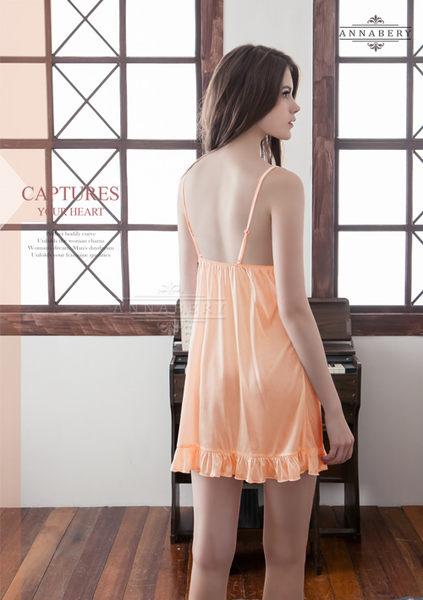 (特價) 大尺碼Annabery粉橘氣質柔緞睡衣 (OS小舖)
