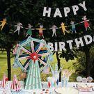 【發現。好貨】韓國可愛人偶動物彩旗婚慶派對裝飾DIY三角旗派對野餐佈置兒童嬰兒房拍攝道具