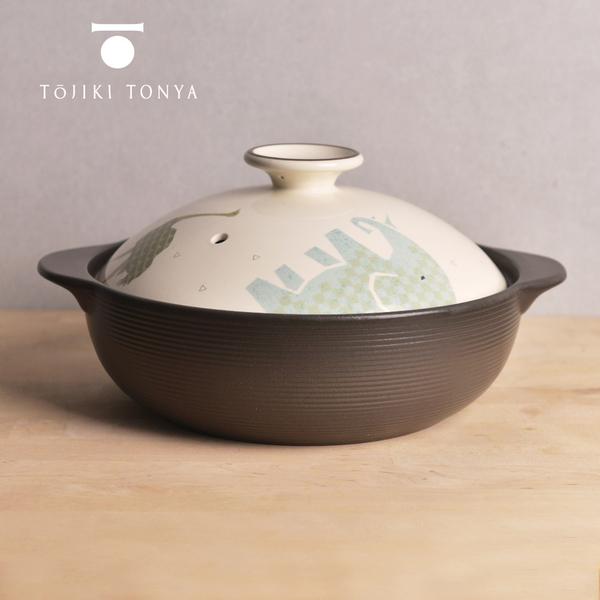 【日本TOJIKI TONYA】IH土鍋3L-可愛動物(5-7人)