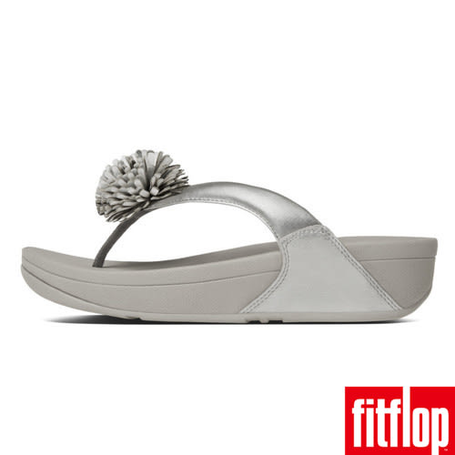 FitFlop™ FLOWERBALL™ LEATHER TOE-POST -Silver 銀色