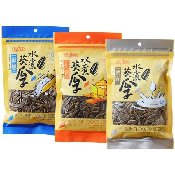 惠香 海鹽/焦糖/奶香 水煮瓜子(160g) 款式可選【小三美日】$60