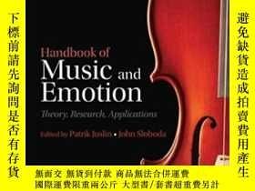 二手書博民逛書店Handbook罕見Of Music And Emotion: