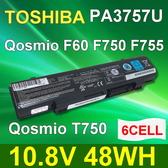 TOSHIBA PA3757U 6芯 日系電芯 電池 F60 V65 F750 F755 T750 T751 T851  F750-10L PA3757U-1BRS PABAS213