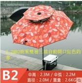 X-江南釣者戶外釣魚傘2.2/2.4米雙層萬向折疊防曬防雨垂釣漁具用品【2.2MB2紅色釣傘,主圖款】