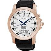 SEIKO 精工錶 Premier 羅馬時尚 藍寶石水晶鏡面 石英錶 SNQ152J1 熱賣中!
