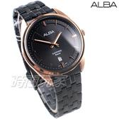 ALBA雅柏錶 都會城市風格 日期顯示窗 防水 藍寶石水晶玻璃 不銹鋼 IP黑電鍍 男錶 AS9L04X1 VJ42-X303SD