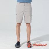 【wildland 荒野】男 彈性抗UV貼袋功能短褲『白卡其』0A81386 戶外 休閒 運動 露營 登山 騎車