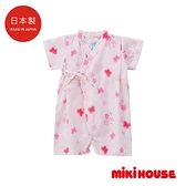 MIKI HOUSE 日本製 舞颯兔和風櫻花浴衣(粉)