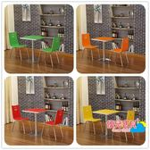 小吃奶茶甜品冷飲餐飲飯店快餐桌椅組合簡約分體
