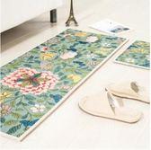 新中式地墊廚房腳墊門墊進門衛浴門廳浴室防滑墊床邊地毯飄窗墊子-轉角1號