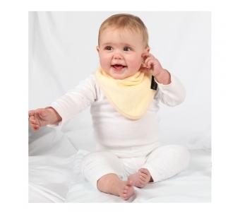 紐西蘭 Mum 2 Mum 機能型神奇三角口水巾圍兜-檸檬黃 吃飯衣 口水衣 防水衣