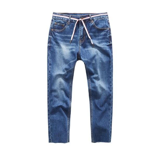 CACO-綁帶九分刷色褲(兩色)-男【QAR099】