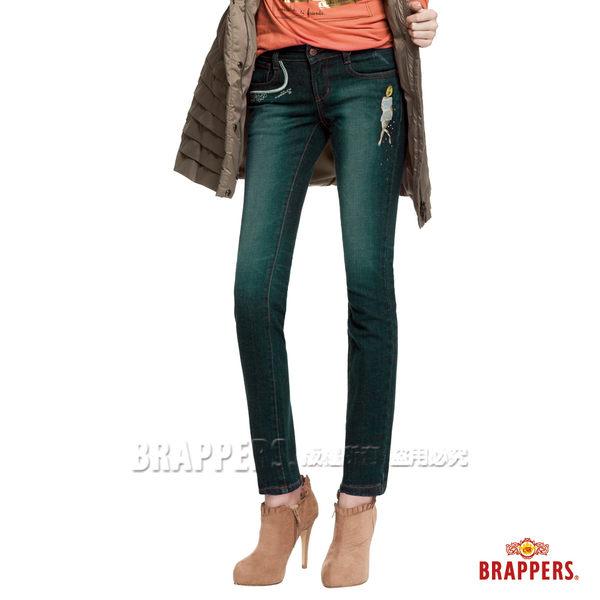 BRAPPERS 女款 新美腳Royal系列-彈性窄管褲-藍