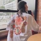 小雛菊短袖t恤女2021新款夏季寬鬆韓版學生網紅ins超火半袖上衣潮 依凡卡時尚