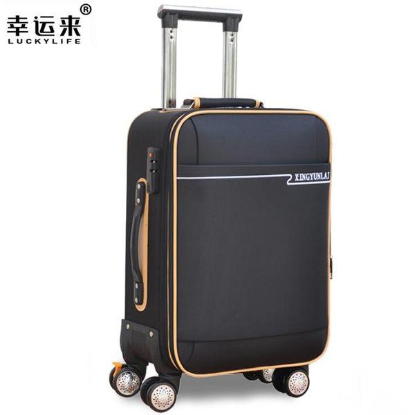 拉桿箱 學生牛津布旅行箱子24寸拉桿箱萬向輪密碼箱皮箱帆布行李箱男女 韓先生