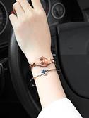女生手錶 時尚防水石英手表女學生手鏈手表韓版簡約鎢鋼色女表女士腕表【快速出貨八折促銷】
